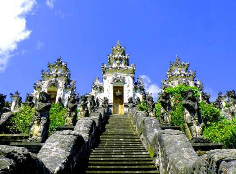 The Pura Besakih is the largest temple in Bali