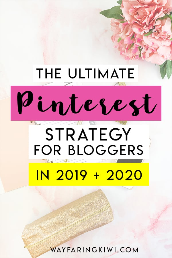 Pinterest Strategy for 2019 + 2020 | If you want to drive traffic to your blog in 2019 and 2020, you need to focus on 3 key areas: search engine optimised content (SEO), social media marketing and having a successful Pinterest marketing strategy. Don't forget to save this to your blogging board so you can find it later! #pinterest #pintereststrategy #pinterestmarketing