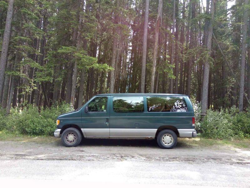 Yvette Morrissey lives in her 1997 Ford e150 van called Betty