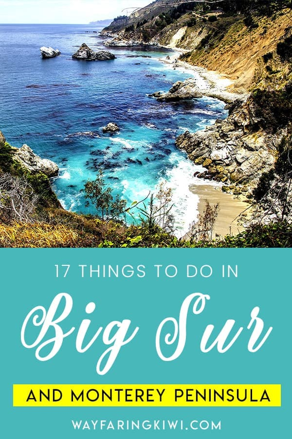 In this article you will learn the best things to do in Big Sur, the best things to do in Monterey Peninsula from a California local. Don't forget to save this to your travel board so you can find it later!