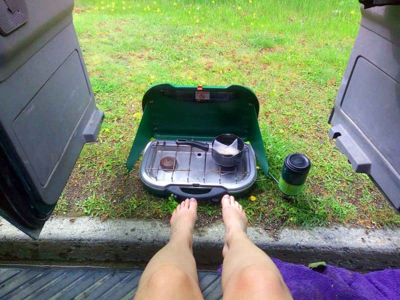 Van life essentials Cooking dinner while living the vanlife is easier with a Coleman Propane Stove