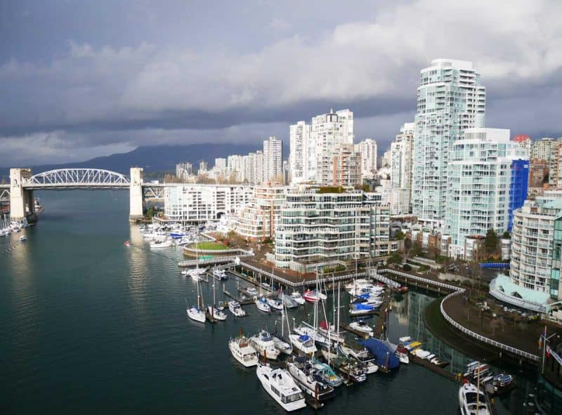 Vancouver viewed from the Granville Island bridge