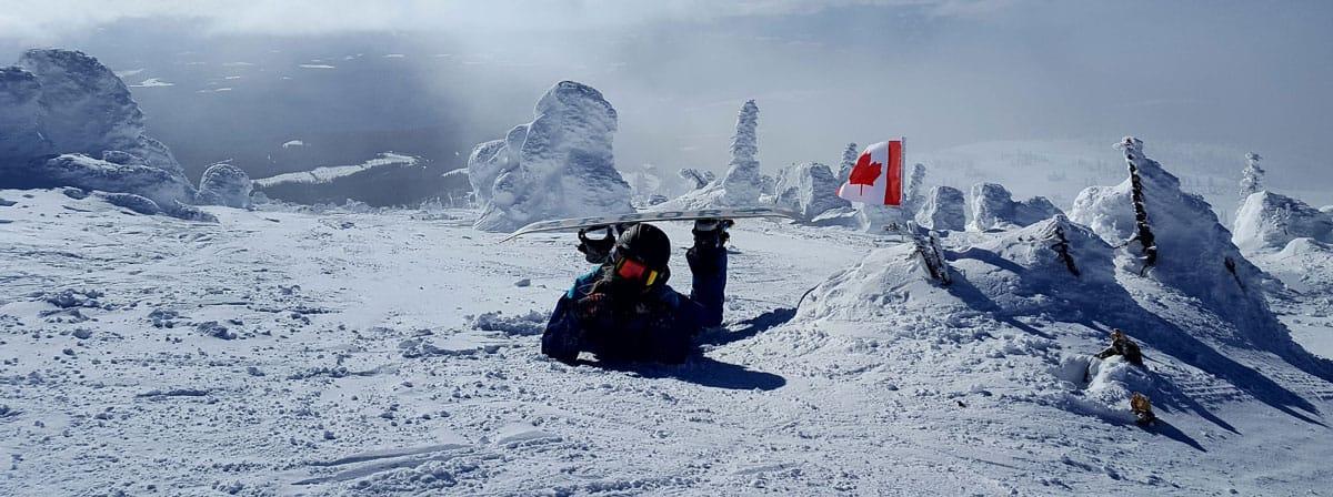 Hanging out at the summit of Big White Ski Resort