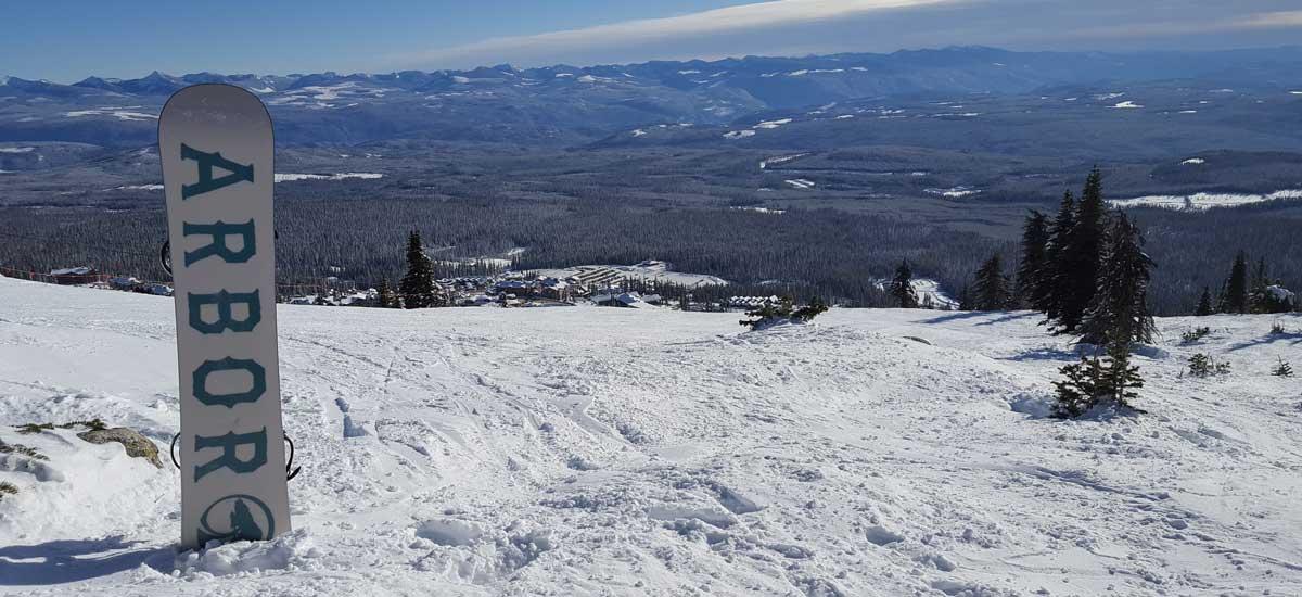 Views of Big White Ski Resort from the Ridge Rocket