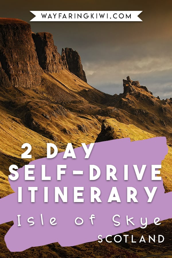 Are you planning a vacation to the Isle of Skye Scotland? This 2 day self-drive itinerary covers all the important things to do on the Isle of Skye! Don't forget to save this to your travel board so you can find it later! #isleofskye #isleofskyescotland #scotlandisleofskye
