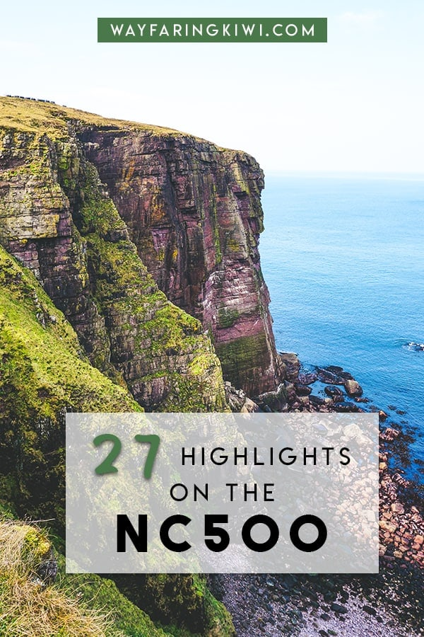 Discover the best NC500 Scotland highlights in my North Coast 500 itinerary! You'll learn the best things to do on the North Coast 500, places to eat on the NC500 and accommodation on the North Coast 500. Plus I've made a North Coast 500 map so you can find these locations easily! Don't forget to save this to your travel board so you can find it later!