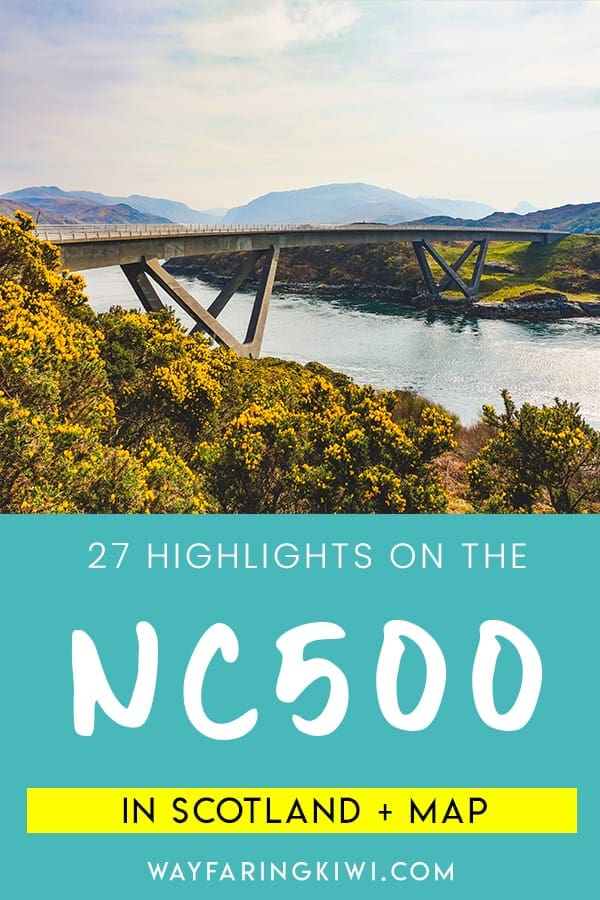 Discover the best highlights in my North Coast 500 itinerary! You'll learn the best things to do on the North Coast 500, places to eat on the NC500 and accommodation on the North Coast 500. Plus I've made a North Coast 500 map so you can find these locations easily! Don't forget to save this to your travel board so you can find it later!