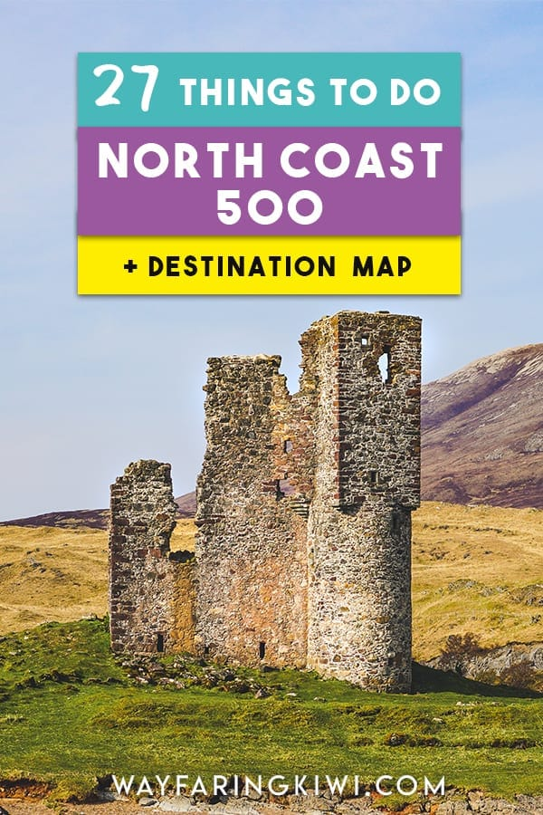 Discover the best highlights of the North Coast 500 in my guide! You'll learn the best things to do on the North Coast 500, places to eat on the NC500 and accommodation on the North Coast 500. Plus I've made a North Coast 500 map so you can find these locations easily! Don't forget to save this to your travel board so you can find it later!