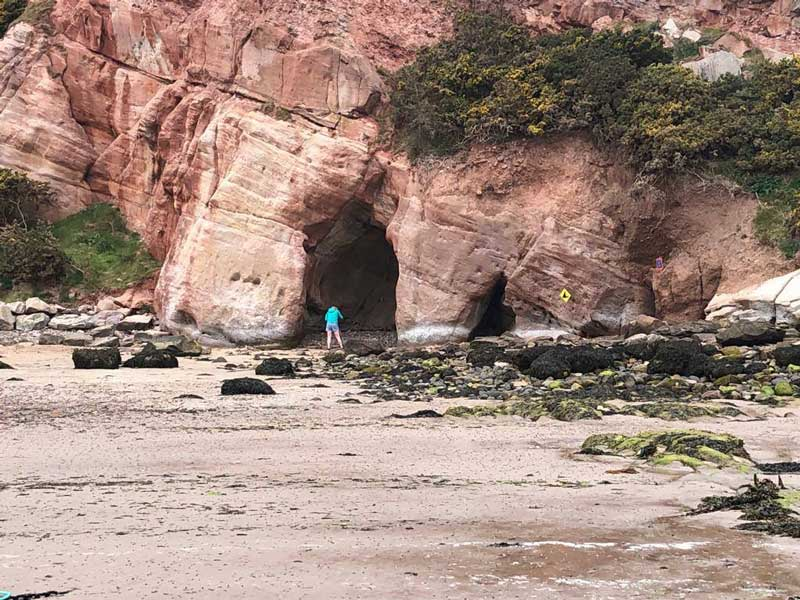 Cove harbour cave