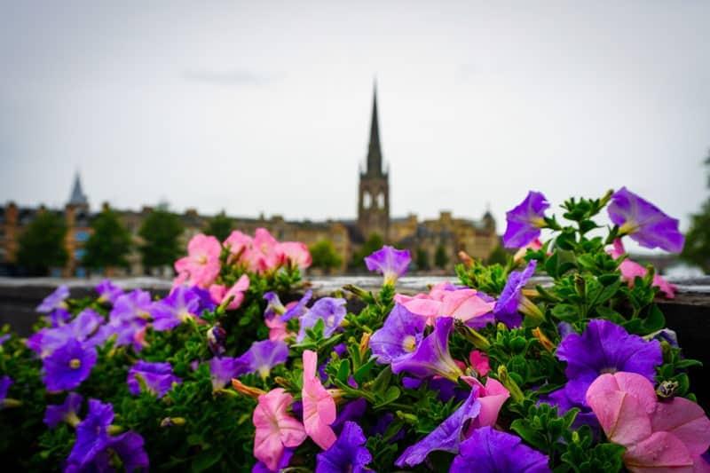 The city of Perth in Scotland