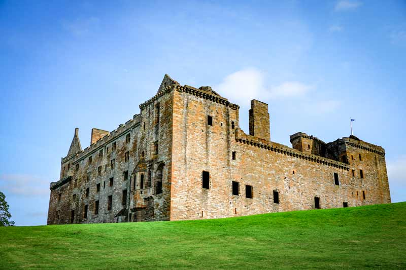 Linlithgow castle on the Scottish National Trail