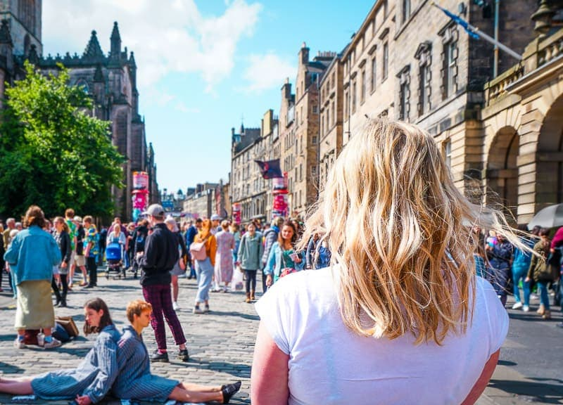 Exploring the Royal Mile during the Edinburgh Festival Fringe