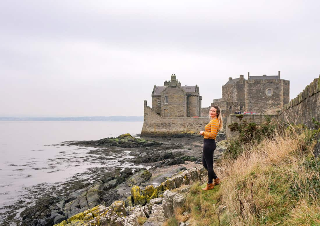 Visiting Blackness Castle in Scotland