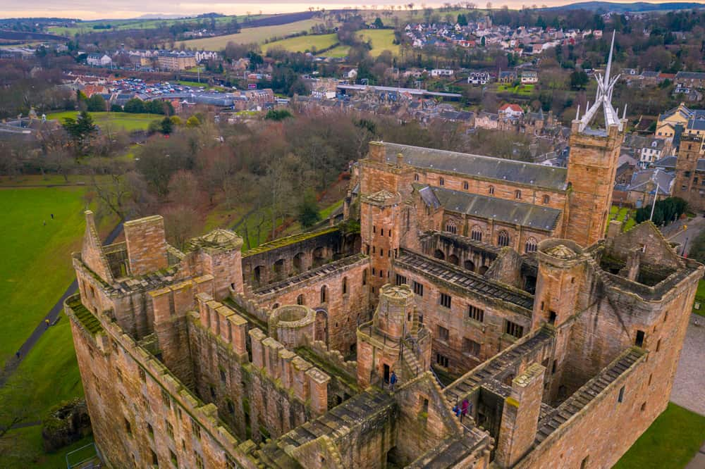 Linlithgow Palace from above