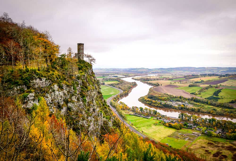 Kinnoull Tower on Kinnoull Hill in Perth, Scotland
