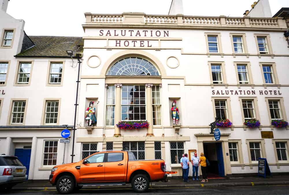Salutation hotel in Perth, one of the oldest hotels in Scotland