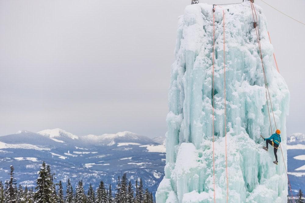 Ice climbing at Big White Ski Resort
