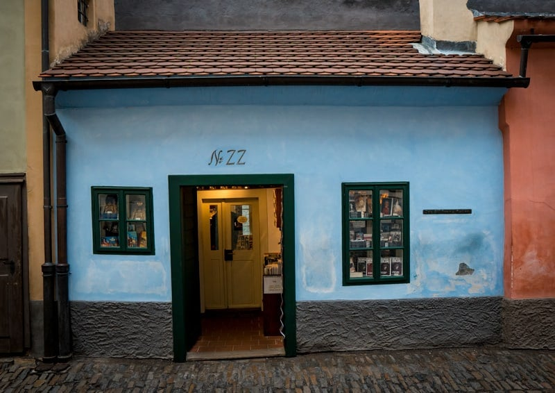 the house franz kafka lived in on golden lane in prague czech republic