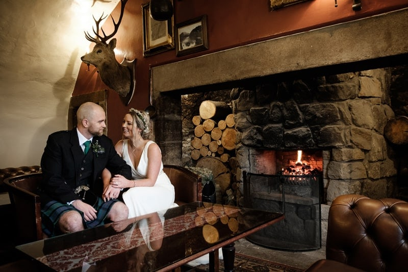 Our Scottish winter wedding at Macdonald Houstoun House Hotel in West Lothian