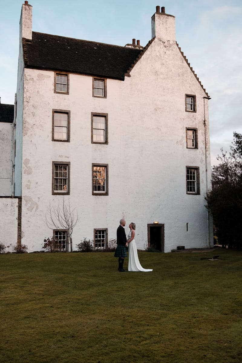 Our wedding in Scotland at the Macdonald Houstoun House Hotel