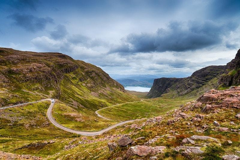 bealach na ba in scotland on the north coast 500