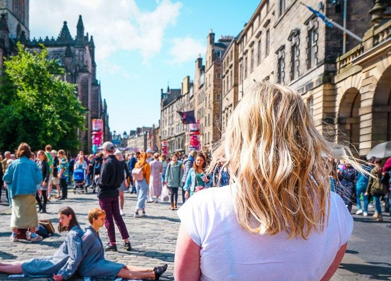 first time solo female travel destinations edinburgh in scotland