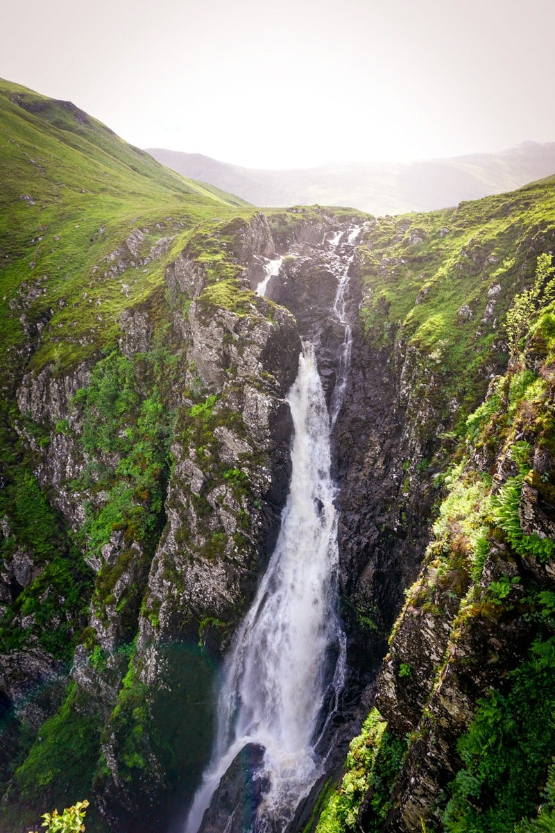 falls of glomach in the scottish highlands