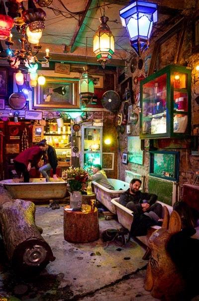 Szimpla Kert ruin bar in Budapest, Hungary