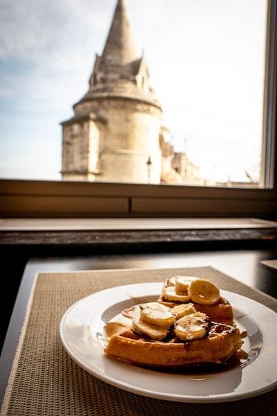 breakfast at hilton budapest