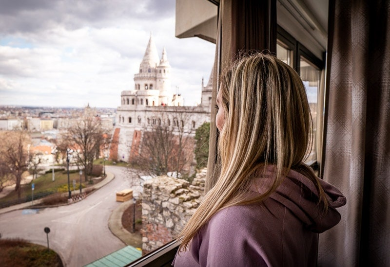 view from the hilton budapest