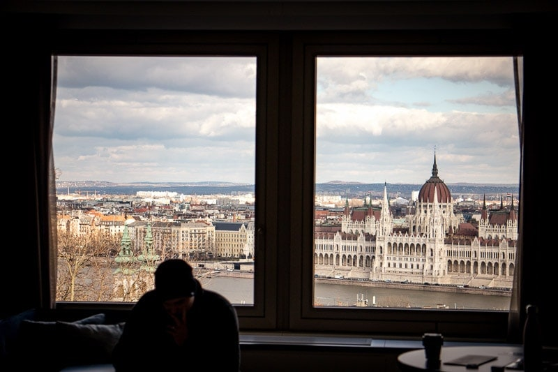 view from hilton budapest