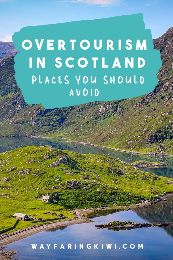 Are you planning a trip to Scotland? Some areas of Scotland suffer from overtourism more than others, so I've chatted to Scotland travel bloggers and asked for their advice on where to travel sustainably in Scotland. Don't forget to save this to your travel board so you can find it later! Sustainable tourism Scotland | Sustainable travel Scotland | Things to do in Scotland | Overtourism in Scotland | Things to do in Scotland | Places to go in Scotland #sustainabletourism #overtourism #scotland