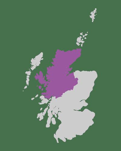 scottish highlands scotland map