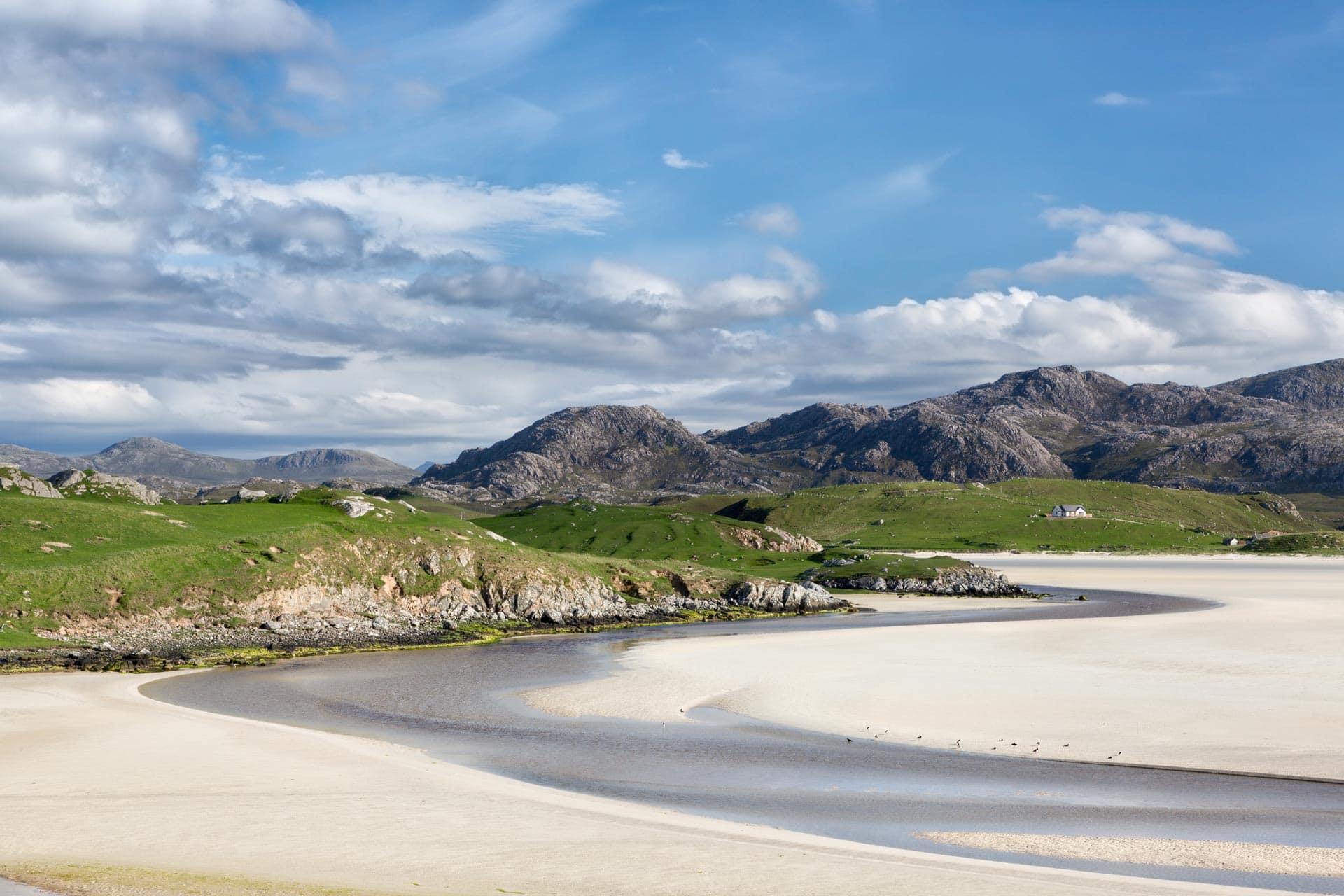 a beach in the outer hebrides scotland