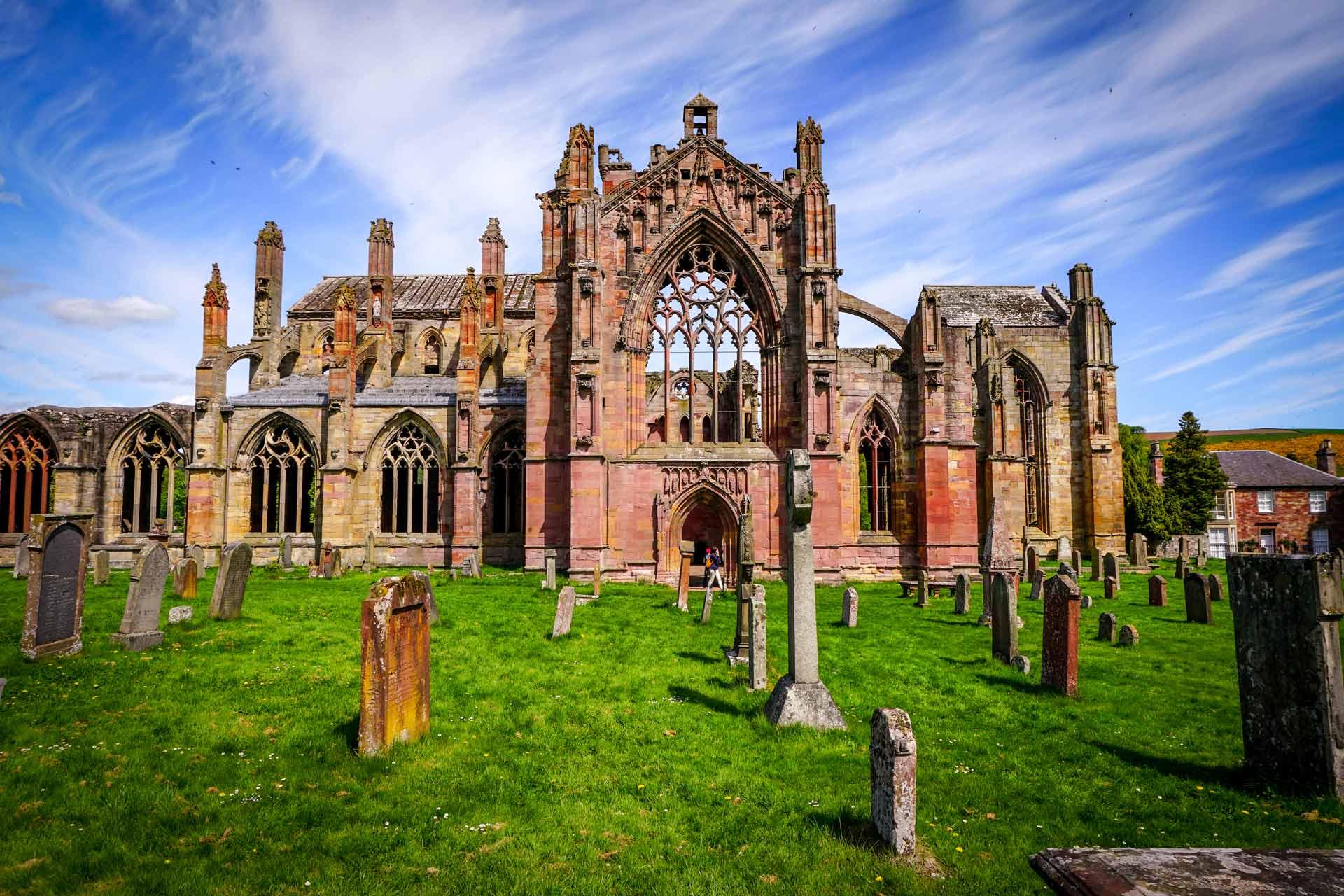 melrose abbey scottish borders