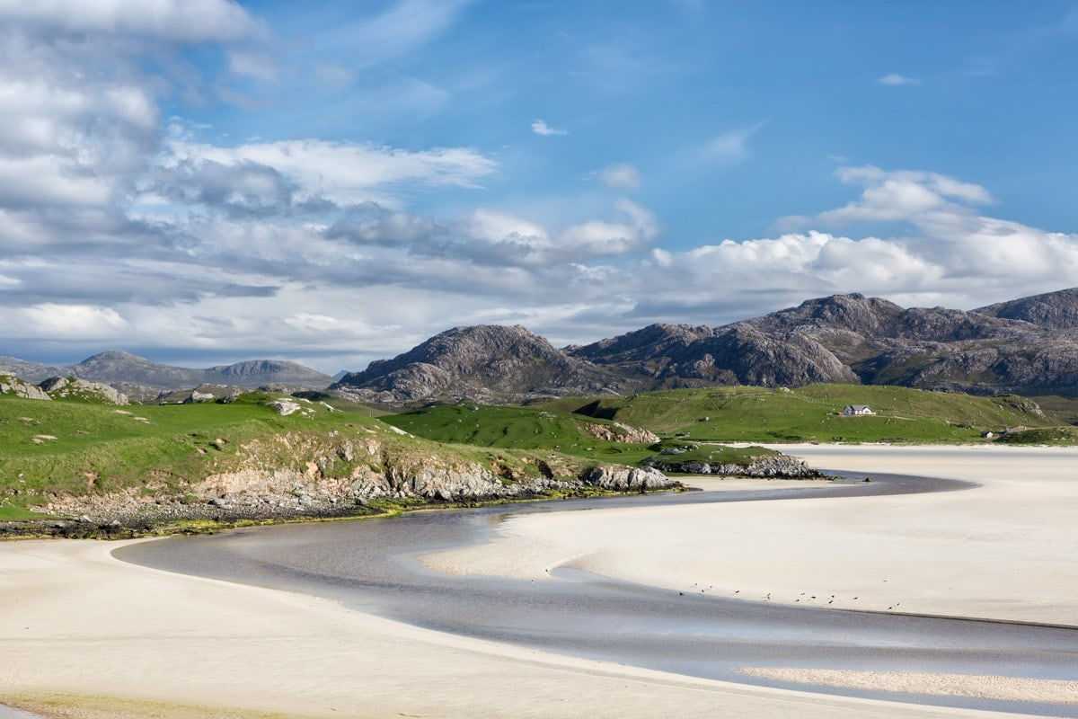 a beach on the outer hebrides in scotland