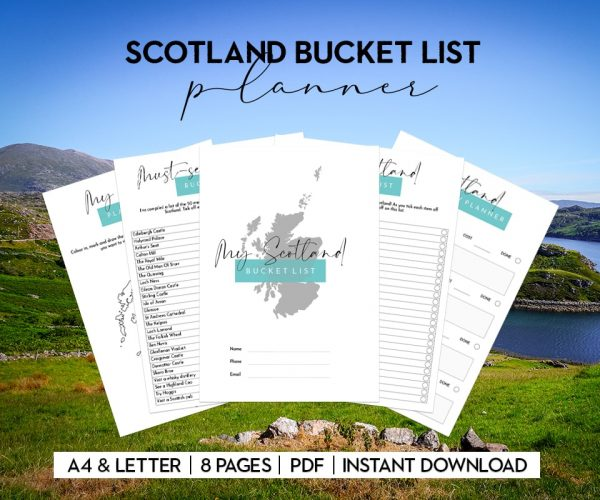 scotland bucket list printable