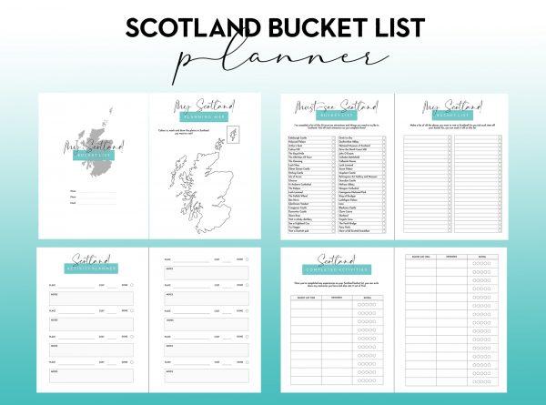 scotland bucket list travel planner printable