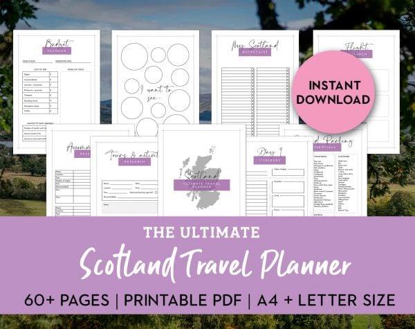 ultimate scotland travel planner printable