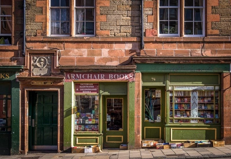armchair books in edinburgh is one of the best bookshops in scotland