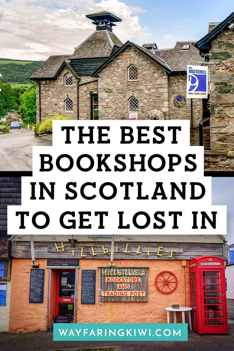 best bookshops in scotland pin