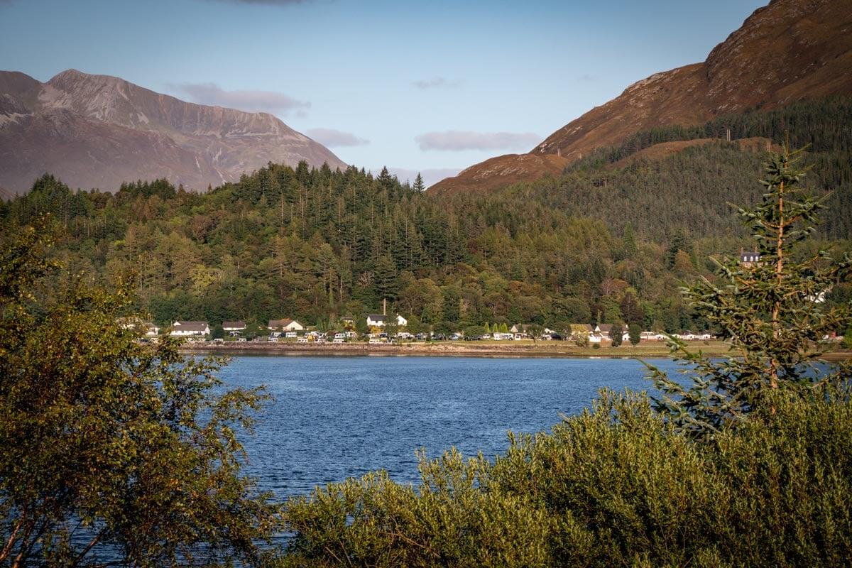 glencoe village in the scottish highlands
