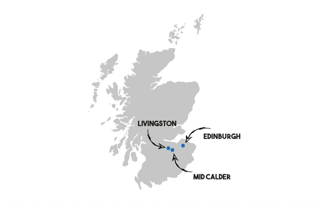 a map of mid calder in west lothian scotland