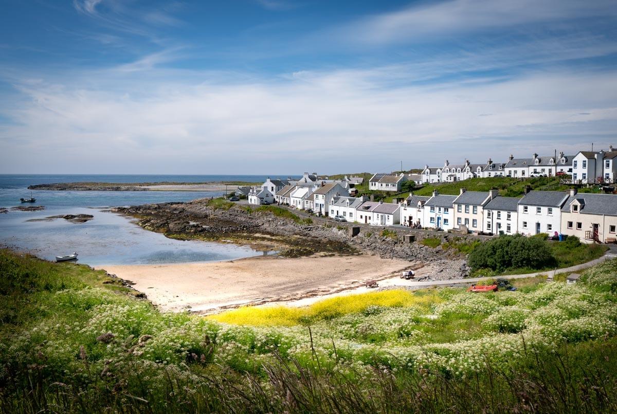 village of portnahaven on islay in scotland