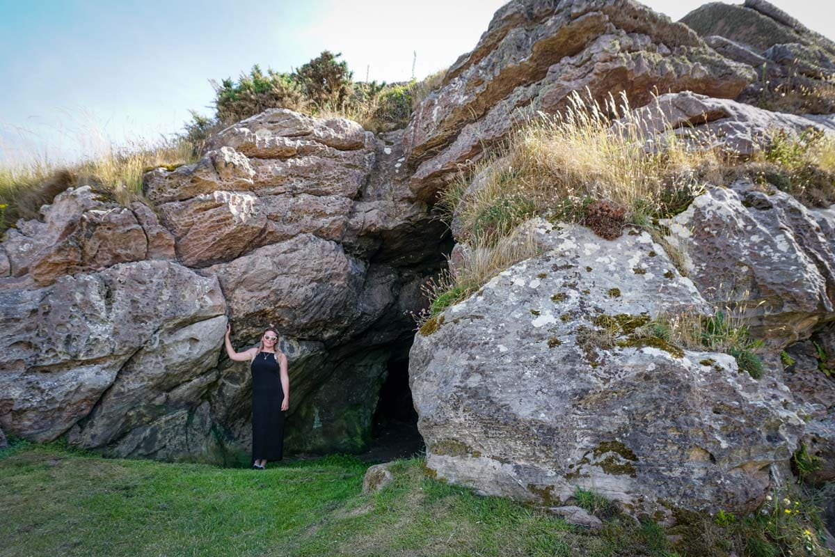 constantine's cave near crail in fife